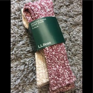 L.L. Bean Cotton Ragg Camp Sock, Size M